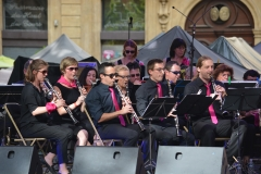 The clarinet section, with a couple of Avon members in the row