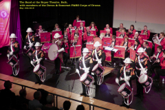 The Corps of Drums (Devon & Somerset) at front of stage at the Roper Theatre, Bath.